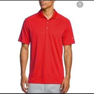 NIKE Golf Tour Performance Victory Polo Red Large